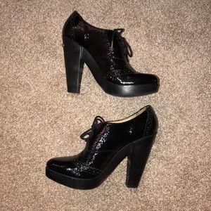 Michael Kors patent leather oxford heels